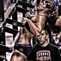 chest to bar pull up - press